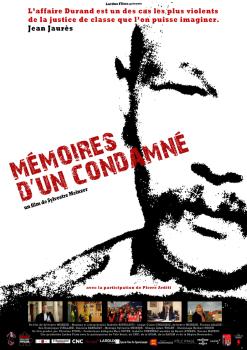 Affiche Mémoires d'un condamné