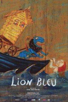 Affiche Lion Bleu